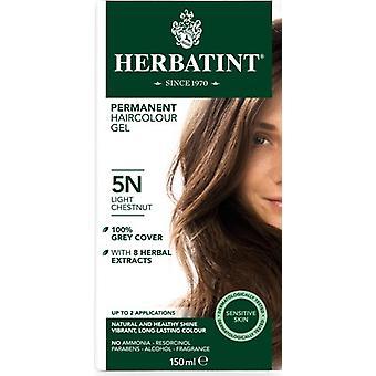Herbatint, kevyt kastanja hiukset väri 5N, 150ml