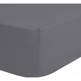 stretched bed cloth 140 x 200 cotton/satin grey