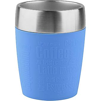HanFei 514515 Isolier-Trinkbecher, Mobil genieen, 200 ml, Dreh- Trinkverschluss, Wasserblau, Reise