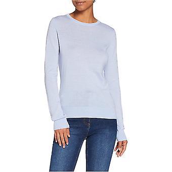 Brand - MERAKI Women's Fine Merino Wool Crew Neck Sweater