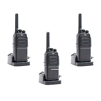 Kit 3 bärbara radiostationer PNI PMR R30 Pro, innehåller batterier, laddare och hörlurar