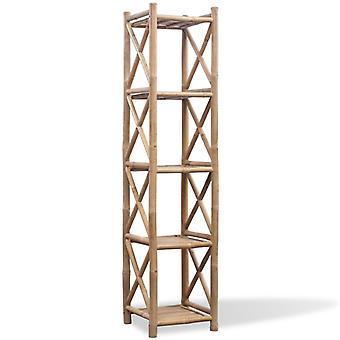 Bamboo shelf 5-etagig square