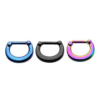Septum clicker ion-plated sizes  16g - 3 colors
