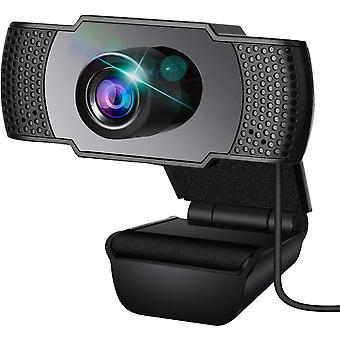 FengChun Webcam, Webcam mit Mikrofon, PC Webcam, Streaming Computer Webkamera mit Untersttzung 3D
