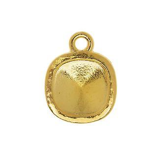 TierraCast Hammerton Lünette Anhänger, vergoldet, passend kissen Stein 10mm, 1 Stück