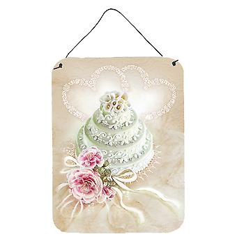 Caroline's Treasures Wedding Cake Wall o Porta Appese Stampe Aph3648Ds1216, 16 X 12, Multicolor