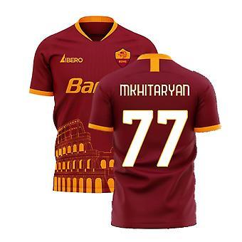 Roma 2020-2021 Home Concept Football Kit (Libero) (MKHITARYAN 77)