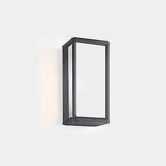 LEDS C4 Skat Mini Ulko-LED Mini Box Seinä Lyhty Urban Harmaa, Valkoinen IP65 9W 2700K
