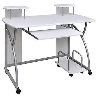 Computer tafel PC Tafel Mobiele Computer Cart Office Table Laptop Wit