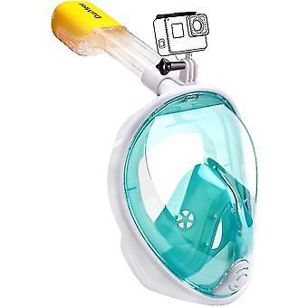 L-xl green 180¡ã cover facial diving mask for adults anti-fog anti-leak,copoz az3827
