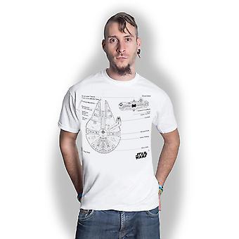 Star Wars - Millennium Falcon Unisex XX-Large T-Shirt - White