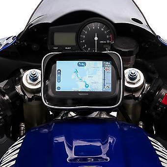 Ultimateaddons Motorrad Center Gabel Vorbau Jochhalterung mit GPS Visier Gehäuse