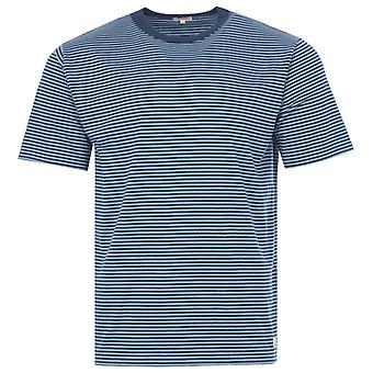 Armor Lux Heritage Stripe Organic Cotton T-Shirt - Blue