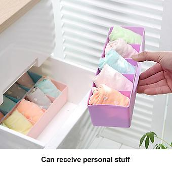 Five Grids Multifunction Underwear Socks Tiny Things Storage Box Plastic Finishing Box Drawer Desk