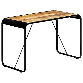 """שולחן אוכל vidaXL 118×60×76 ס""""מ מנגו עץ מלא מחוספס"""