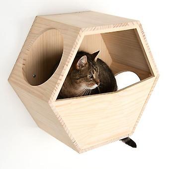 Wandmontierte Katzenhöhle Abnehmbares waschbares Kissen Platz sparend