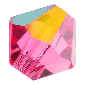 Preciosa Tšekin kristalli, Bicone Bead 4mm, 36 Pieces, Rose AB