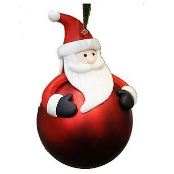2 Pcs Bal de Noël Arbre de Noël Dessin animé Pendentif décoratif Décorations de Noël créatives Doux