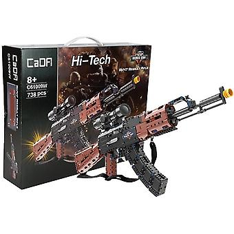 Fucile AK47 - giocattoli tecnici - 738 pezzi