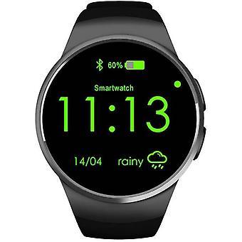 Chronus Smart Watch mit Schrittzähler, Bluetooth-Anruf, Annehmen und Ablehnen von Anrufen, Fitness-Tracker, Multifunktionsuhr (Schwarz)
