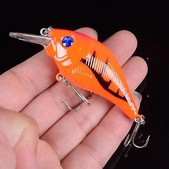 1Pcs 7.5cm 10.2g harde vib lokt vissen minnow aas treble haken zinken crankbait wobblers vissen tackle 3deyes