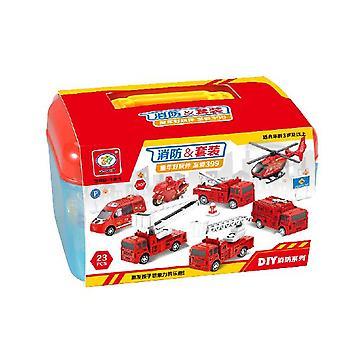 Children's brandweerwagen DIY speelgoed