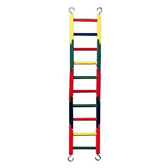 """Prevue Carpenter Creations Jointed Wood Bird Ladder 20"""" Long Multicolor - 1 count"""