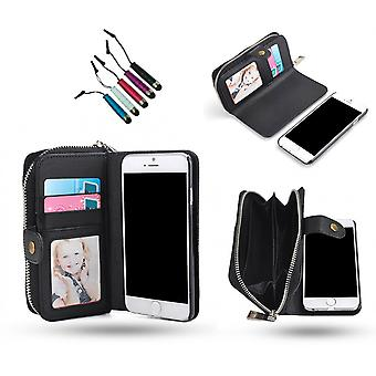 Iphone 6/6s - Wallet Case & Magnetic Shell + Touch Pen