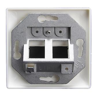 TRIAX Wall Outlet Keystone CAT6 Angle
