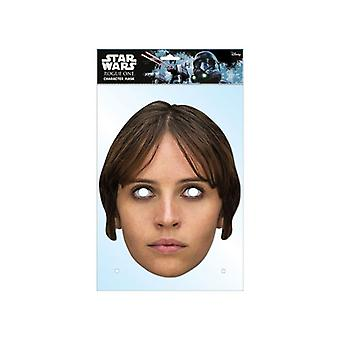 Jyn Erso Rogue One: A Star Wars Story Single 2D Card Party Fancy Dress Mask