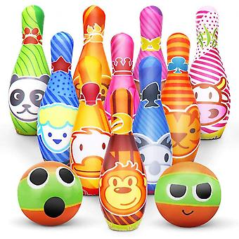 Bowling Set Skittles Game For Kids With Early Development Indoor Toy