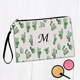 Gift Makeup Bag: Cactus Flower Pattern