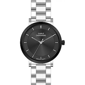 Carlo Cantinaro Silver Stainless Steel CC1002LB001 Women's Watch