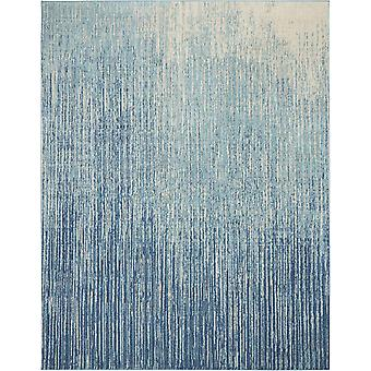 7' x 10' Navy and Light Blue Abstract Area Rug