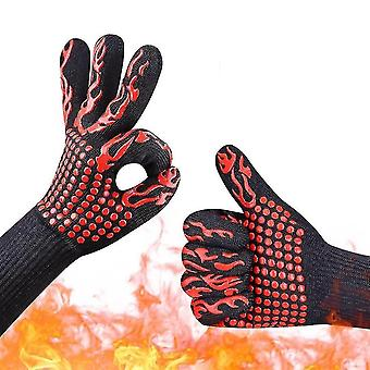 Safety gloves a pair of fireproof kevlar gloves for barbecues and oven operation lshbdj--apair