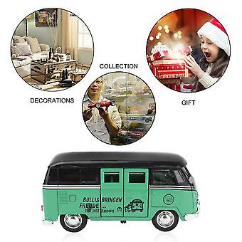 Classic Double Layer Bus Pull Back Collection Decoration Model Display Gift