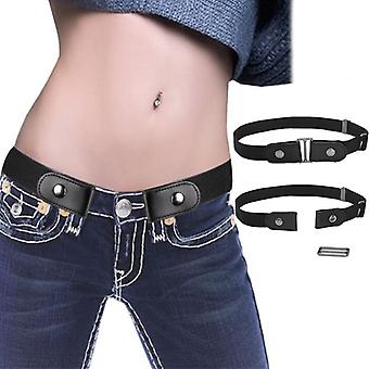 Buckle-free Invisible Belts Adjustable Allergy Belt For Jeans Pants