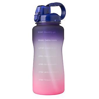 2000ml motiverende vandflaske med tidsmarkør og halm, utæt Tritan Bpasports Flaske