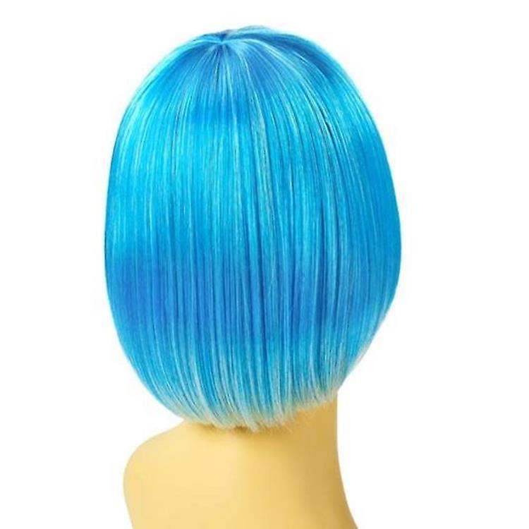 Party Wig - Blue - Short Bob Wig - Bright Colours