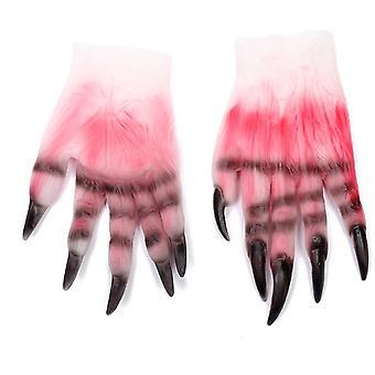 Halloween Makeup Party Props Zombie Blood Gloves Cosplay (nemôže prísť pred Halloweenom