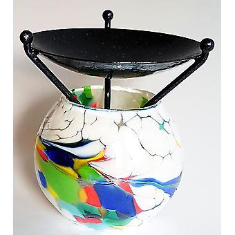 Globe Melt Burner White by D & J Glassware