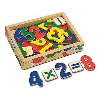 Melissa & Doug 37 magneti di numero in legno in una scatola