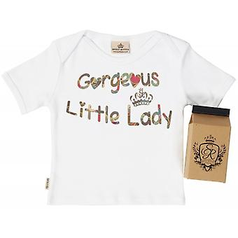 Spoilt Rotten Gorgeous Little Lady Babys T-Shirt 100% Organic In Milk Carton