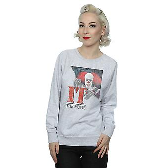 It (1990) Women's Distressed Poster Sweatshirt