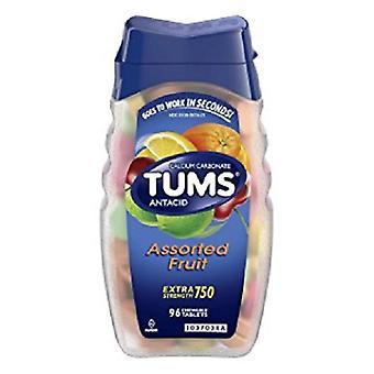 Tums Extra força sortidas frutas comprimidos mastigáveis