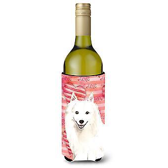 Amor una botella de vino de Spitz japonés Beverge aislador Hugger