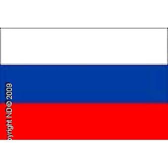 Флаг России ручной 20 X 14 см. Ручка пластиковая 30 см