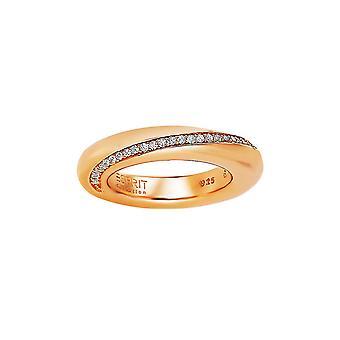 Esprit Collection Damen Ring Silber Rosé Zirkonia Peribess Gr.16 ELRG91429B160