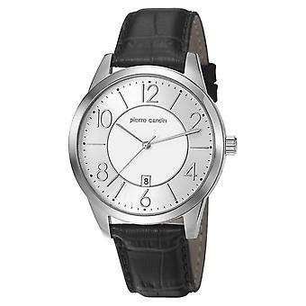 Pierre Cardin mens watch wristwatch leather PC106921F01
