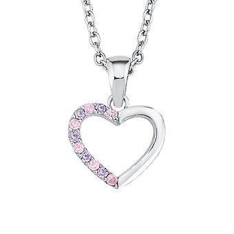 Princess Lillifee child kids necklace silver heart cubic zirconia 2021107